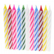 Row of Birthday Candles - Photo