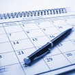 Stock Photo: Ballpoint Pen on Calendar