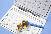 Party Favor and Calendar — Stock Photo