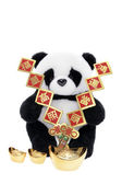 Soft Toy Panda with Chinese New Year Decorations — 图库照片