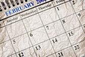 Skrynkliga kalender — Stockfoto