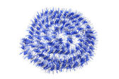 Blue Tinsel — Stock Photo