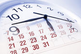 Clock Face and Calendar — Stock Photo
