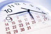 Visage d'horloge et calendrier — Photo