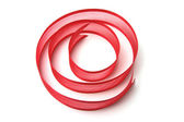 Strip of Red Ribbon — Stock Photo