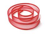 Red Ribbon Strip — Stock Photo