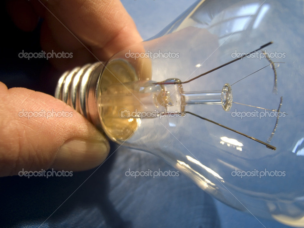 Electric light bulb with an E27 thread — Stock Photo #2737947