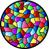Stained Glass Circular Window — Stock Vector