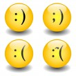 Stock Vector: Txt Smileys - Happy & Sad