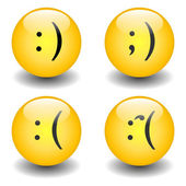Txt Smileys - Happy & Sad — Stock Vector