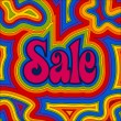 Groovy Sale - Rainbow — Stock vektor