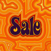 Groovy Sale - Warm — Stock Vector
