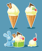 Ice-cream — Stock Vector