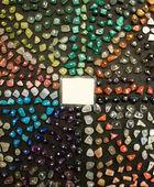 Semi precious stone set — Stockfoto