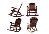 An isolated classic rocking chair — Stock Photo