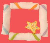 Washclothes frame — Stock Photo