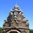 Pokrovsk church revived from ashes — Stock Photo