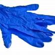 Dark blue latex gloves. — Stock Photo