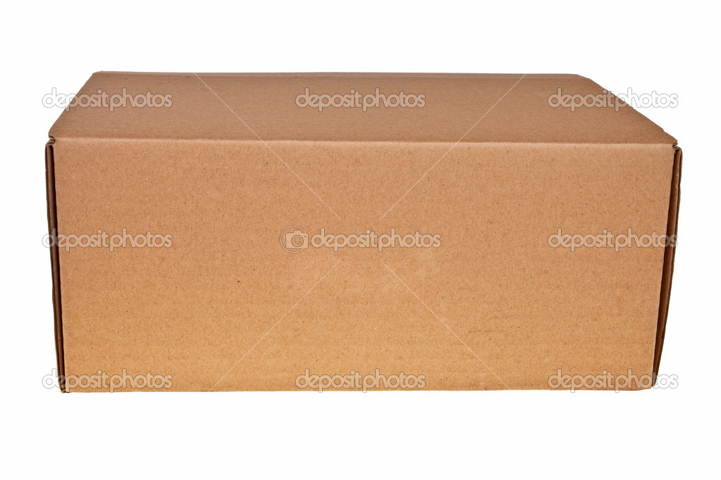 Brown carton box isolated over white background. — Stock Photo #2736008