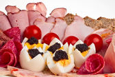 Piatto di pasto a buffet. — Foto Stock