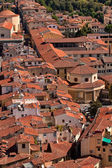 An aerial view to old town, Florence. — Stock Photo