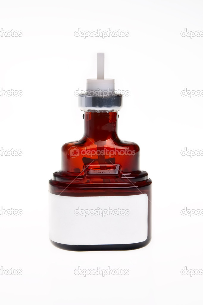 Brown glass bottle with medicine.  Stock Photo #2779509
