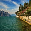 Royalty-Free Stock Photo: Garda Lake at Malcesine, Italy.