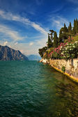 Garda Lake at Malcesine, Italy. — Stock Photo