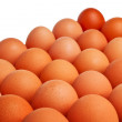 Brown eggs placed closely together. — Stock Photo