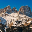 Sassolungo rocks, Dolomites, Italy. — Stock Photo