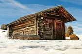 Mountain shed, Dolomites, Italy. — Stock Photo