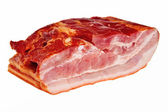 Smoked bacon chunk. — Stock Photo