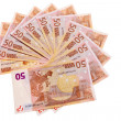 50 Euro banknotes in circular pattern. — Stock Photo