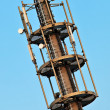 Telecommunication monopole tower. - Stock Photo