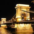 Budapest chain bridge. — Stock Photo