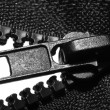 Black slide-fastener — Stock fotografie