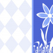 Flower Blank Postcard or Banner Ad — Stock Photo