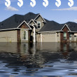 Stock Photo: Mortgage - Drowning in Debt