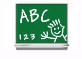 School Chalkboard - Kids — Stock Photo