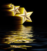 Gold 3D Shooting Stars — Stock Photo