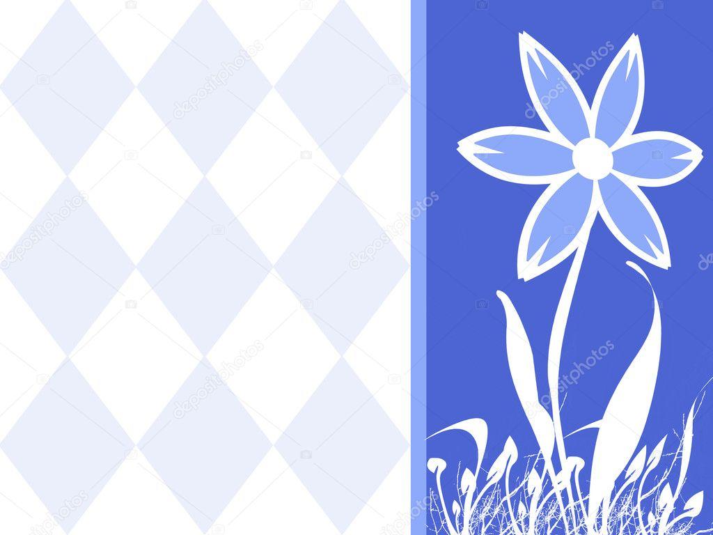 花卉空白明信片或横幅广告– 图库图片