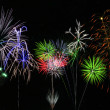 Colorful Fireworks over Lake — Stock Photo