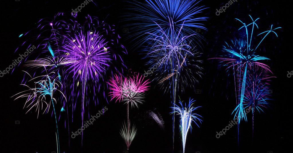 Colorful Fireworks for the Grand Finale over Lake — Stock Photo #3308442