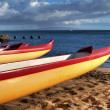 Hawaiian Canoes - Stock Photo