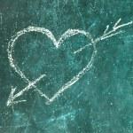 Heart of blackboard — Stock Photo