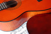 Acoustical guitar music — Stock Photo