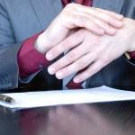 Businessman hands explaining — Stock Photo #2732706