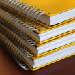Yellow notebooks stack — Stock Photo