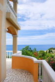 Terrace with sea view — Stockfoto