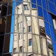 Urban building reflection — Stock Photo